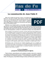 08 - Canonización JPII (Defensa de La Fe)