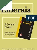 """Sumário - """"A LEI E A ORDEM"""" - Ralf Dahrendorf (Banco de Idéias nº 50)"""