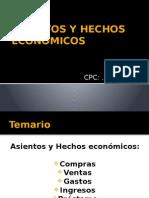Asientos y Hechos Económicos- COMPRAS