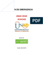 Plan Emergencias Unad Acacias 2012