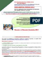 Instructivo de Admisiones 2016-1 Surcolombia