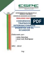 Convenios y Tratados Ecuador