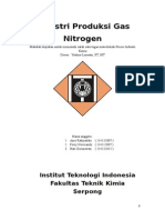 Industri Produksi Gas Nitrogen