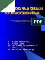Planes de Desarrollo Urbano