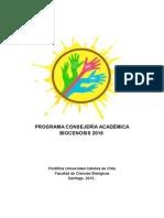Programa Consejería Académica 2016