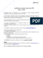 Appel Projets ESI- Alinov 2010 _1