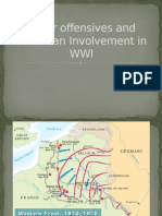 major offensives and canadian involvement in wwi