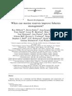 Hilborn Et Al 2004 - When Can Marine Reserves Improve Fisheries