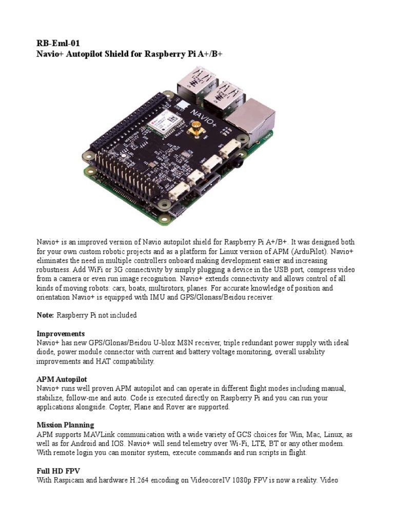 datasheet-navio-board pdf   Wi Fi   Raspberry Pi
