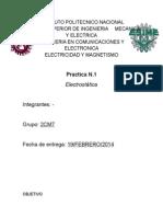 Practica 1 - Electrostatica - Esime - Electromagnetismo