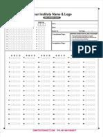 90 Questions OMR Sheet