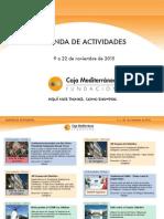 Agenda Actividades Destacadas. Del 9 al 22 de noviembre de 2015