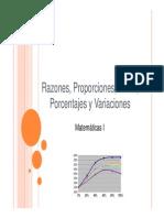Identificación de Formas Distintas de Comparación y Relación Entre Números Reales Tales Como Razones Tasas Proporciones y Variaciones