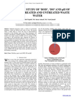 COMPARATIVE STUDY OF �BOD�, �DO� AND pH OF DISTILLERY TREATED AND UNTREATED WASTE WATER