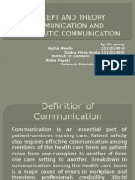Concept and Theory Communication and Therapeutic Communication