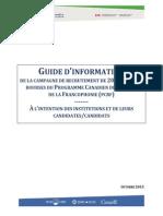 PCBF_Guide Dinformation Pour Les Candidatures