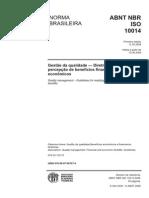 NBR ISO 10014-2008 - Gestao Da Qualidade - Diretrizes Para a Percepção de Benefícios Financeiros e Economicos_OK