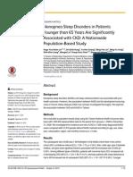 Nonapnea Sleep Disorders in Patients