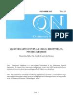 Quaternary Events at Craig Rhosyfelin, Pembrokeshire