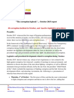 The Corruption Logbook… October 2015 Report