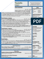 Michaelpitaniello Resume Sound-Designer Website