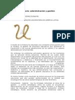 Administración Universitaria en America Latina.