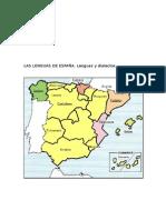 Mapa Lenguas España