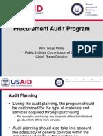 Procurement Audit Program