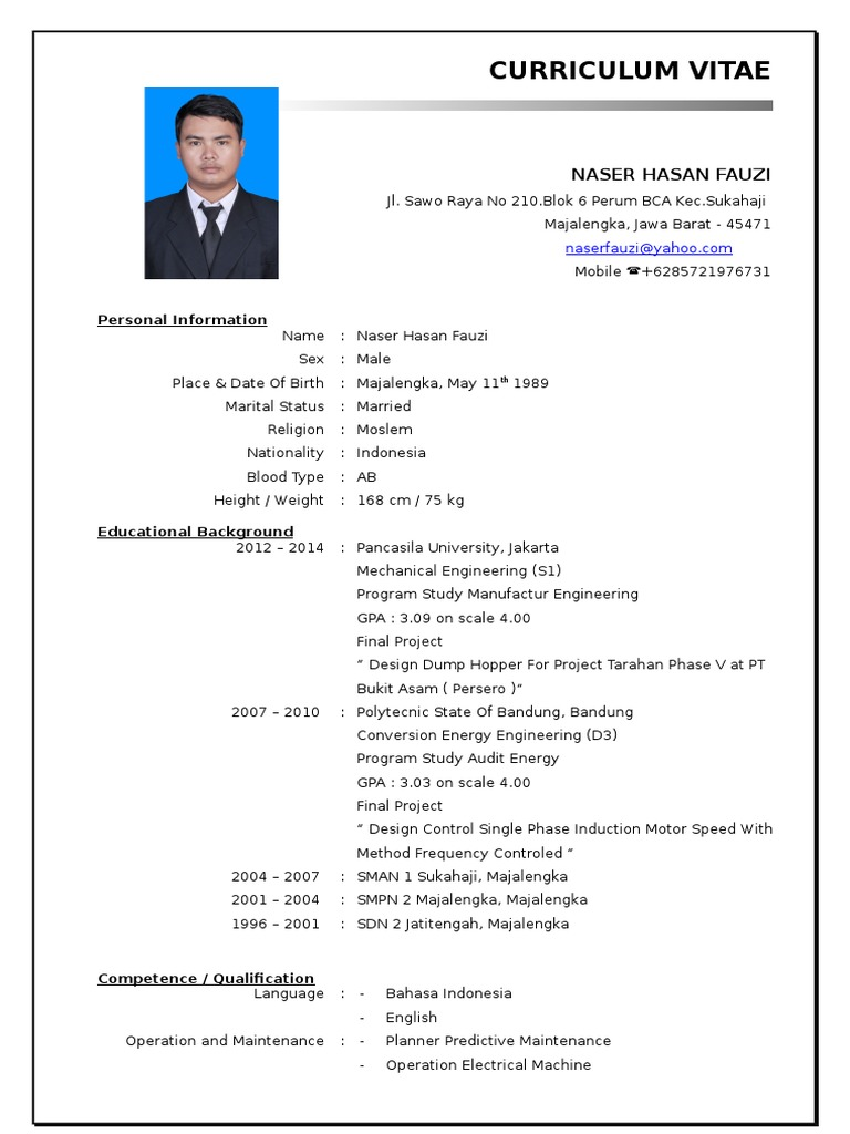 Cv D3 Doc Mechanical Engineering Production And Manufacturing