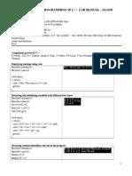 Computer Programming LAB MANUAL 2015 ANAND