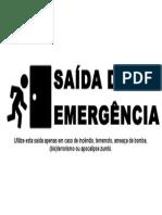 Saida de Emergencia