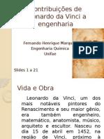 Contribuições de Leonardo Da Vinci a Engenharia