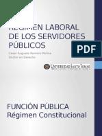 Regímen Laboral de Los Servidores Públicos Completo Usta