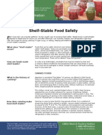 Shelf Stable Food Safety