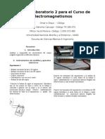Informe Laboratorio 2 para el Curso de Electromagnetismos.docx
