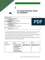 Tema1 Origenes de Roma. Primera Declinacion . Verbos