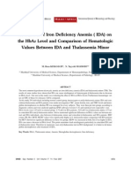 The Effect of Iron Deficiency Anemia ( IDA) On