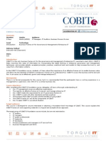 Cobit 5 schedule