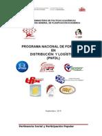 PROGRAMA NACIONAL DE FORMACIÓN EN DISTRIBUCIÓN  Y LOGÍSTICA  (PNFDL)
