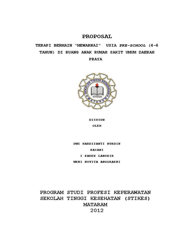 PROPOSAL TERAPI BERMAIN MEWARNAI USIA PRE SCHOOL 4 6 TAHUN