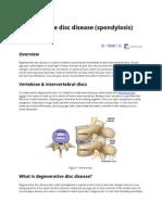 Spondylosis (Degenerative Disc Disease)