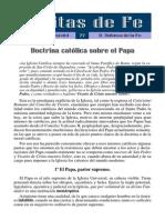77 - Doctrina Catolica Sobre El Papa (Defensa de La Fe)