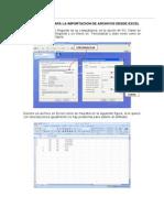 4.7. Estacion Total - Importacion de Archivos Excel