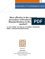 281 How Effective is Current Procedure of Product Quality Standardizarion Vibhor Relhan