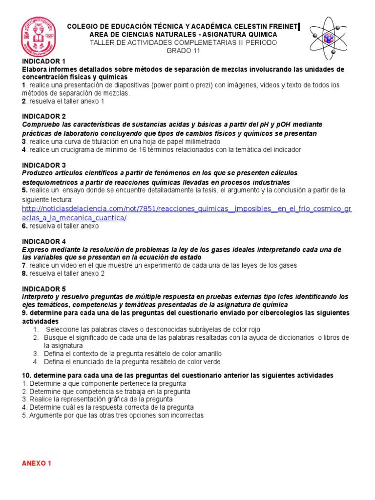 Atractivo Leyes De Los Gases Problemas Hoja Respuestas Bandera ...