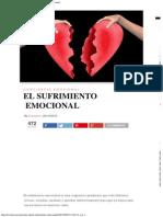 El Sufrimiento Emocional - Evolución Consciente