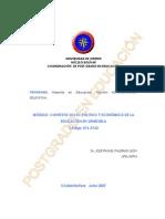 Contexto Socio Político Económico de la Educacion en Venezuela