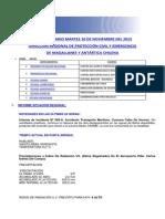 Informe Diario Onemi Magallanes 10.11.2015