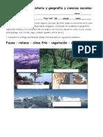 Evaluación de Historia y Geografía y Ciencias Sociales 2º