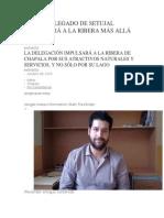 Nuevo Delegado de Setujal Promoverá a La Ribera Más Allá Del Lago